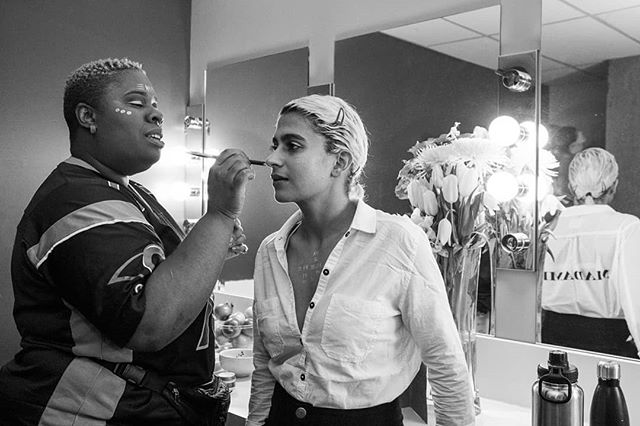 Pre-game and on stage: Another handful of moments from a great @madamegandhi show at the @montrealartsinterculturels