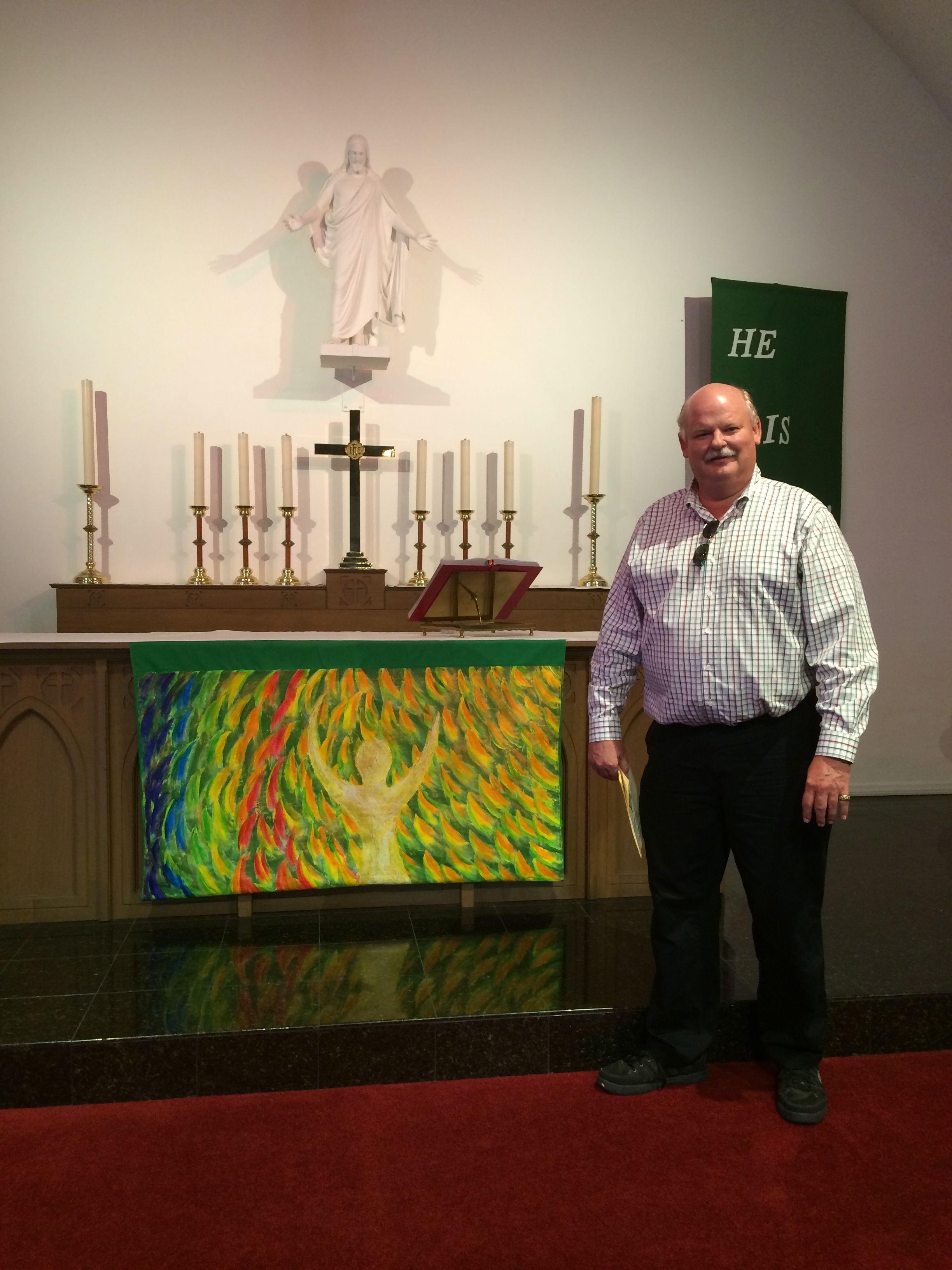 John & altar parament.jpg