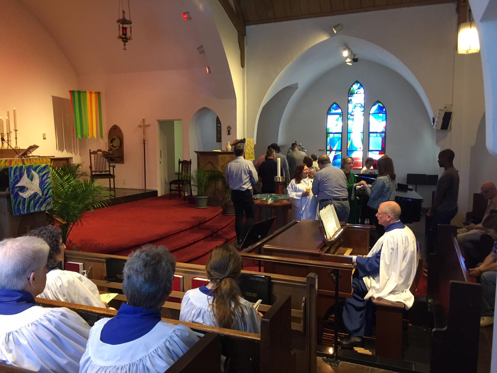 David Y organ communion.JPG