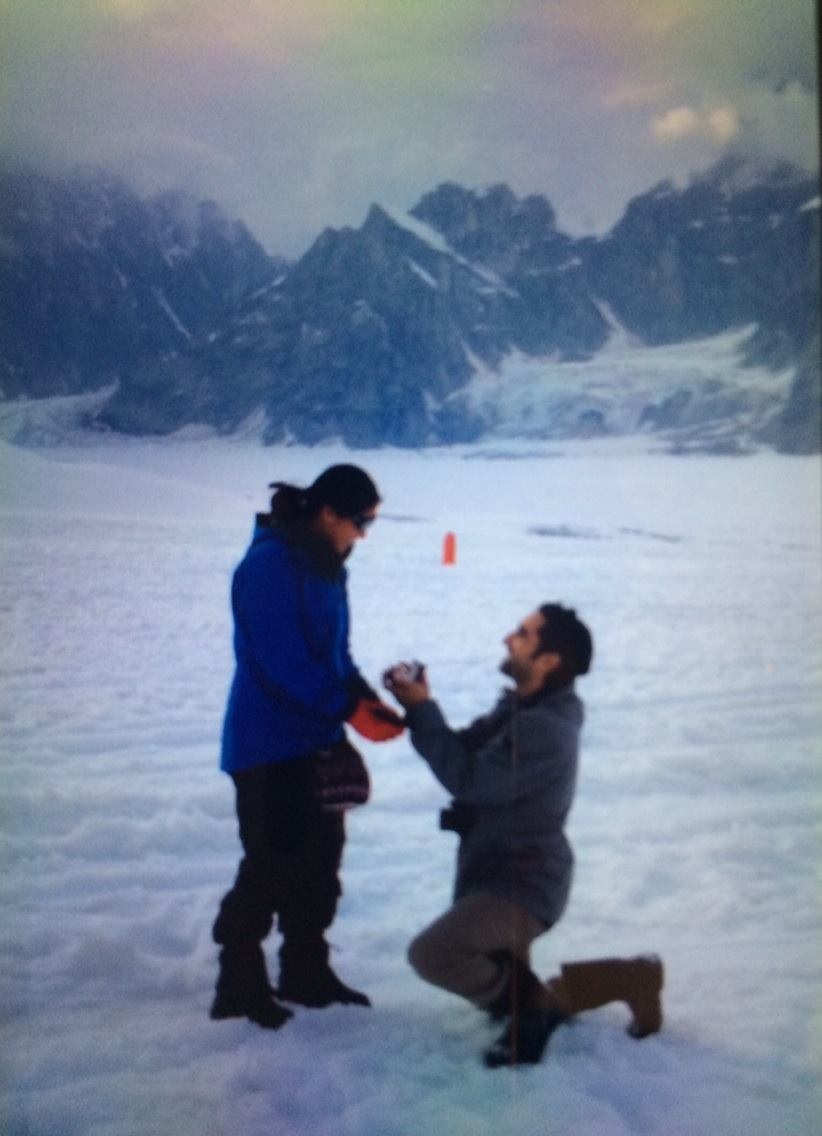 The time I proposed on the tallest glacier in Alaska.   Stories should be    EMOTIONAL.