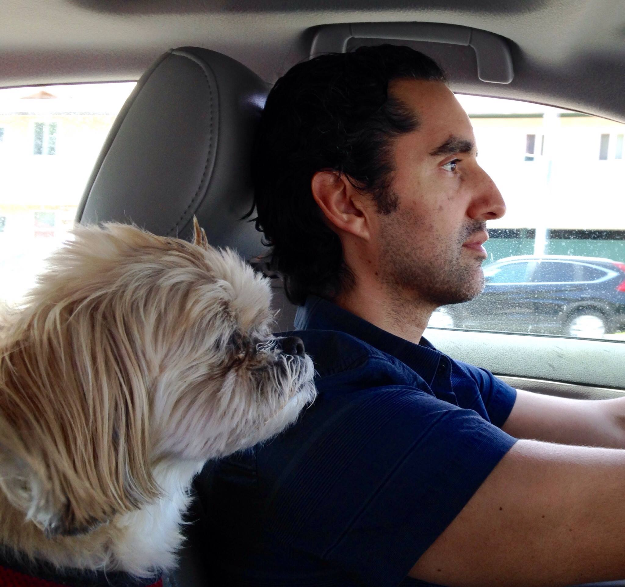 Driving with my navigator. - Stories are about FAMILY.