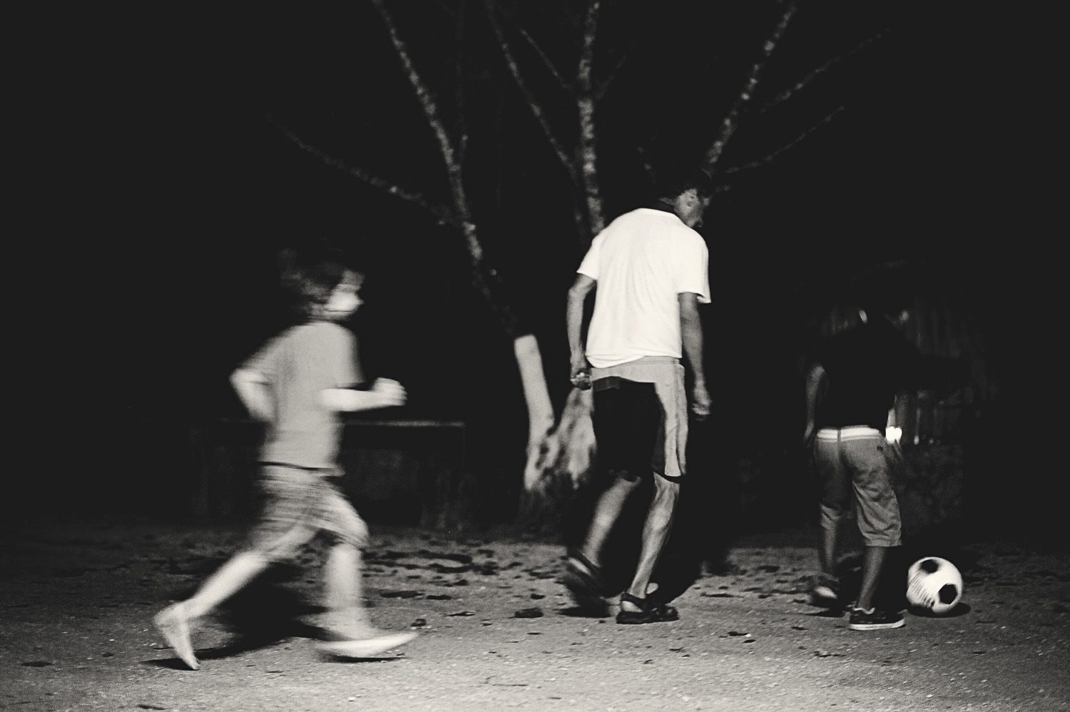 Good partyend with midnight soccer.