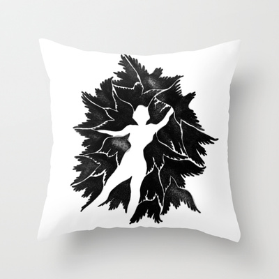 """The Raven"" Throw Pillow"