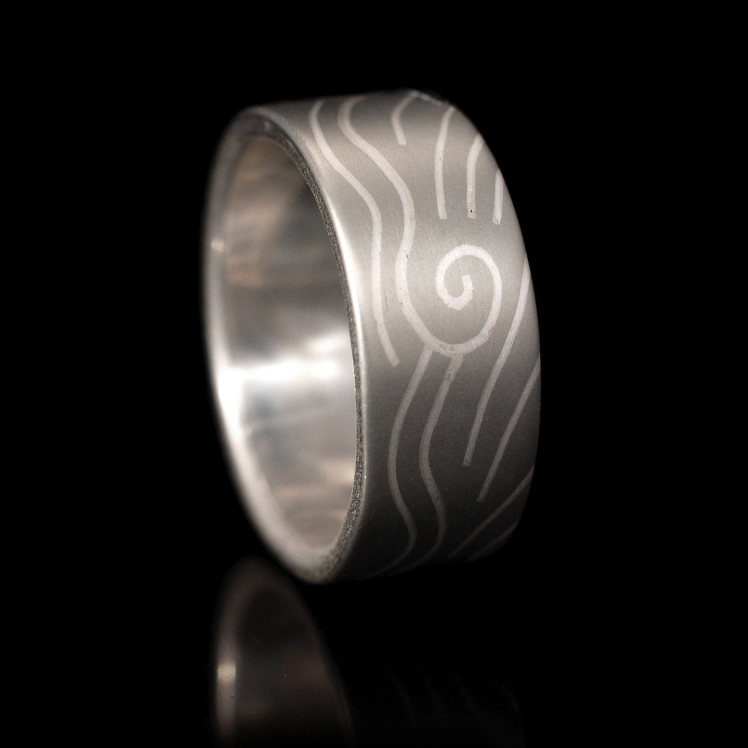 The finished ring based on the above sketches