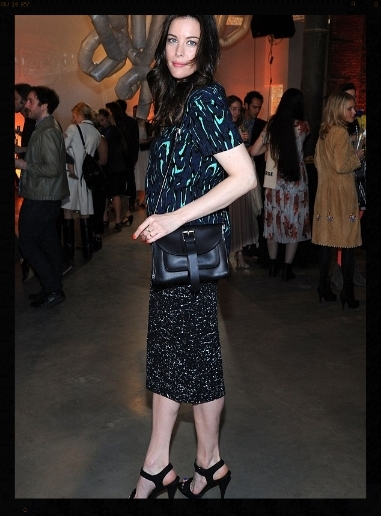 Liv Tyler in earrings from The One I Love NYC at the Pioneer Works Fete (2014)