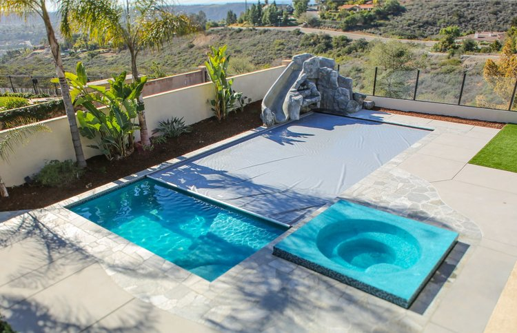 Swimming pool cover. — California Pools