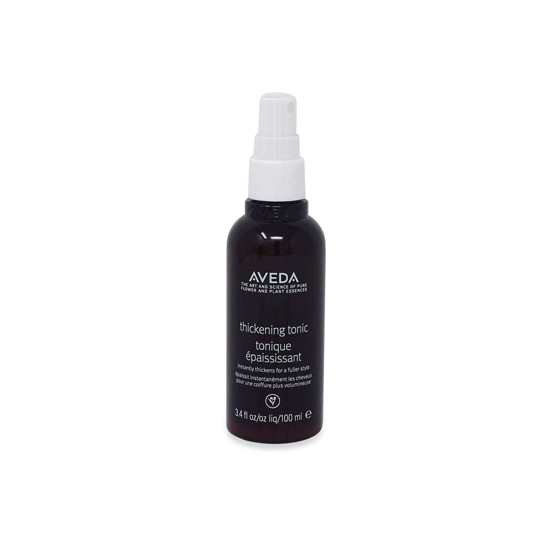 Aveda Thickening Tonic $39 (100ml)   Instantly thickens hair and expands strands from roots to ends. Powered by botanicals—including certified organic amla fruit.  Aveda's own pure-fume aroma with certified organic rosemary, geranium, cinnamon and other pure flower and plant essences.   (purchase in store only)