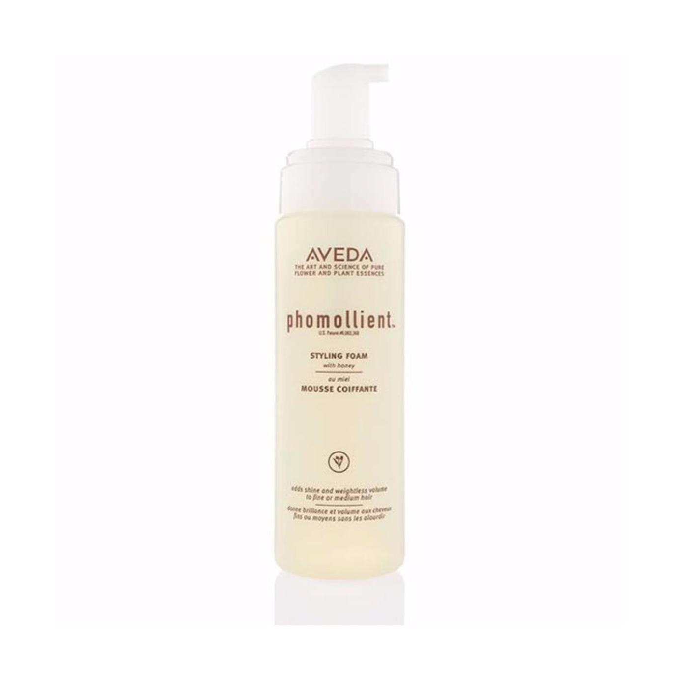 Aveda Phomollient $31.00 (200ml)   Our formula creates weightless body and volume on fine to medium hair. Air-infused technology transforms a liquid into a foam without hydrocarbon propellants.  Aveda's own pure-fume aroma with certified organic peppermint, ylang ylang, bergamot and other pure flower and plant essences.   (purchase in store only)