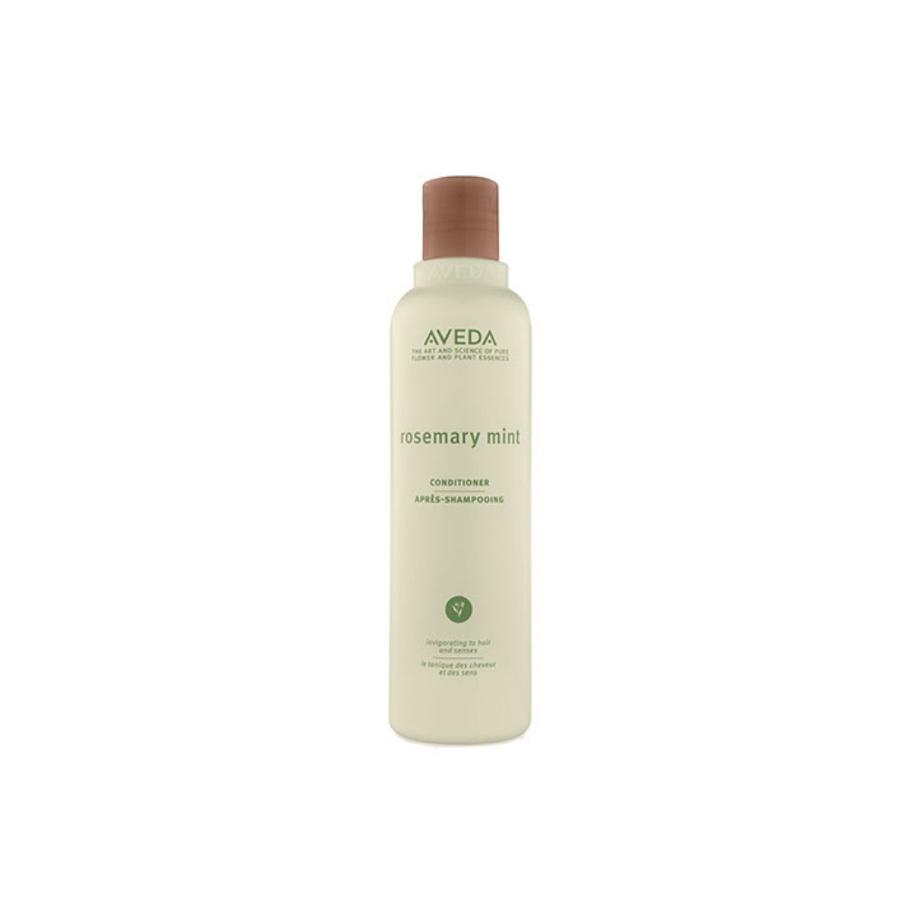 Aveda Rosemary Mint Conditioner $ (250ml)   Weightless conditioning leaves fine to normal hair healthy and full of body.  Awakens the senses with an invigorating aroma of certified organic rosemary and peppermint with other pure flower and plant essences!   (purchase in store only)