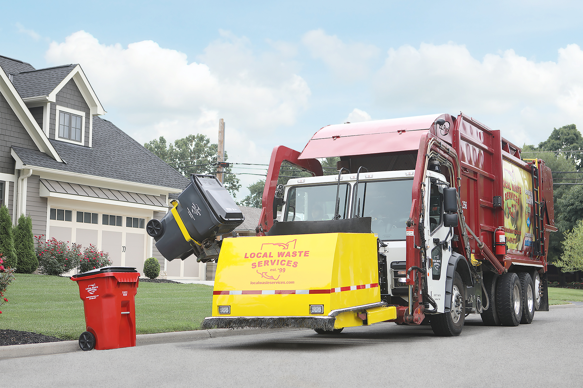 RESIDENTIAL - Offering 35, 65 and 95 gallon carts for solid waste, recycling and yard waste. 18 gallon recycling bins also available.