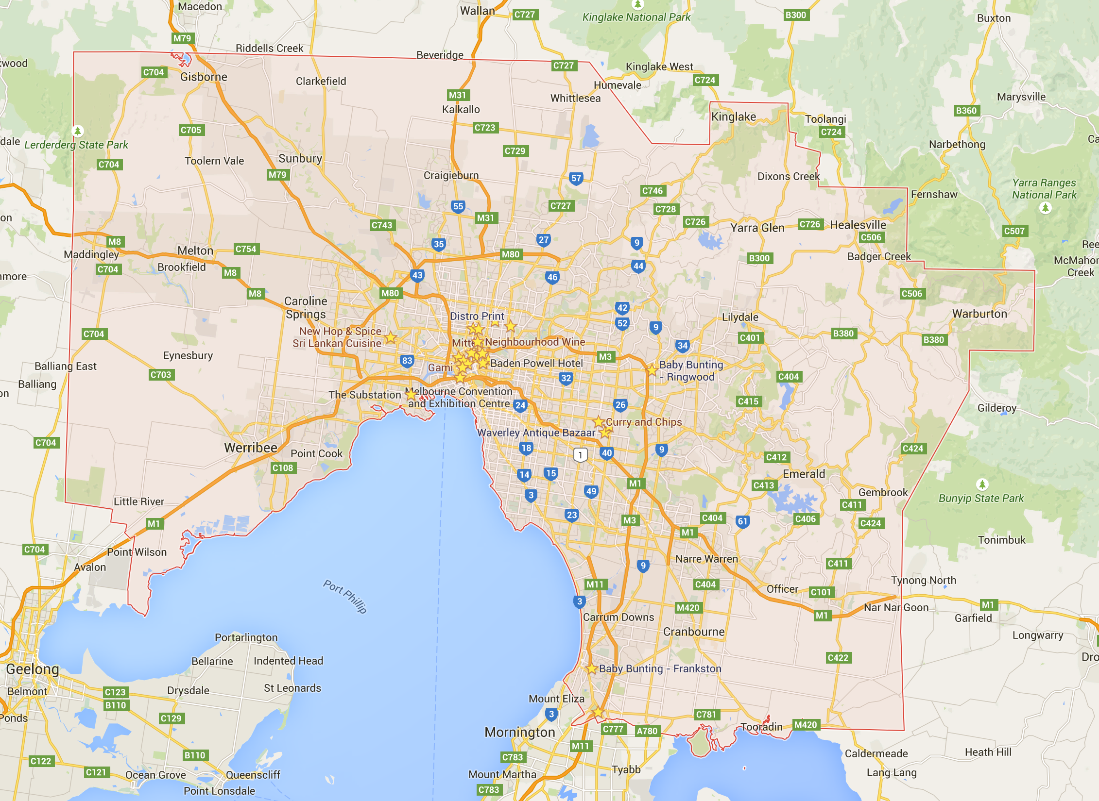 We cover ALL of Melbourne