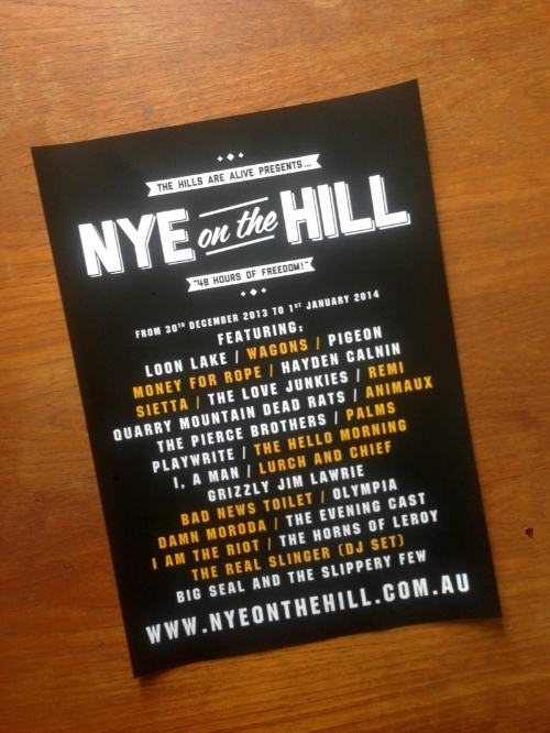 NYE On The Hill Colour A3