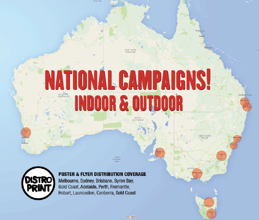 Distro Print - Nationwide Distribution Coverage