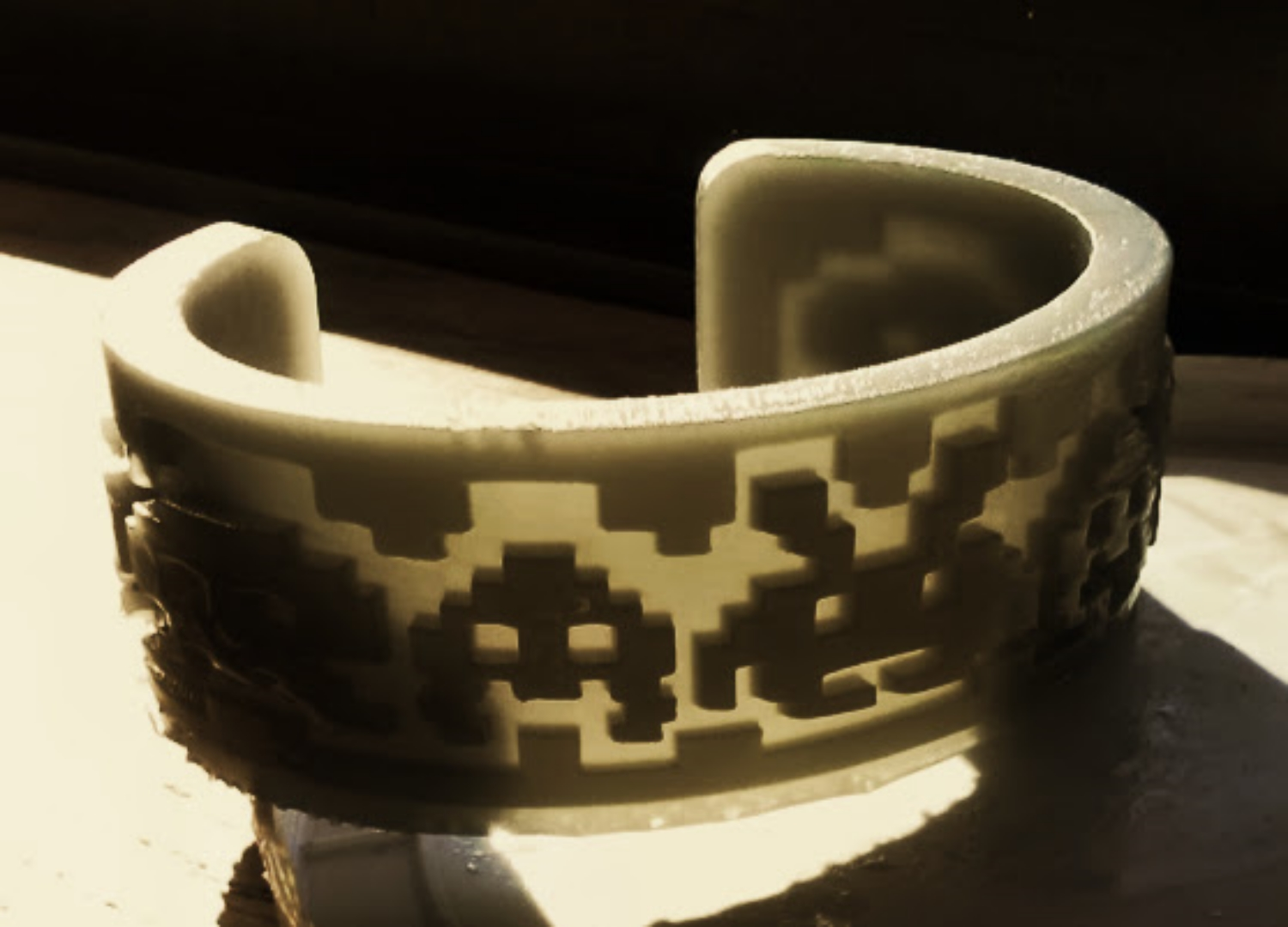 Space invaders cuff