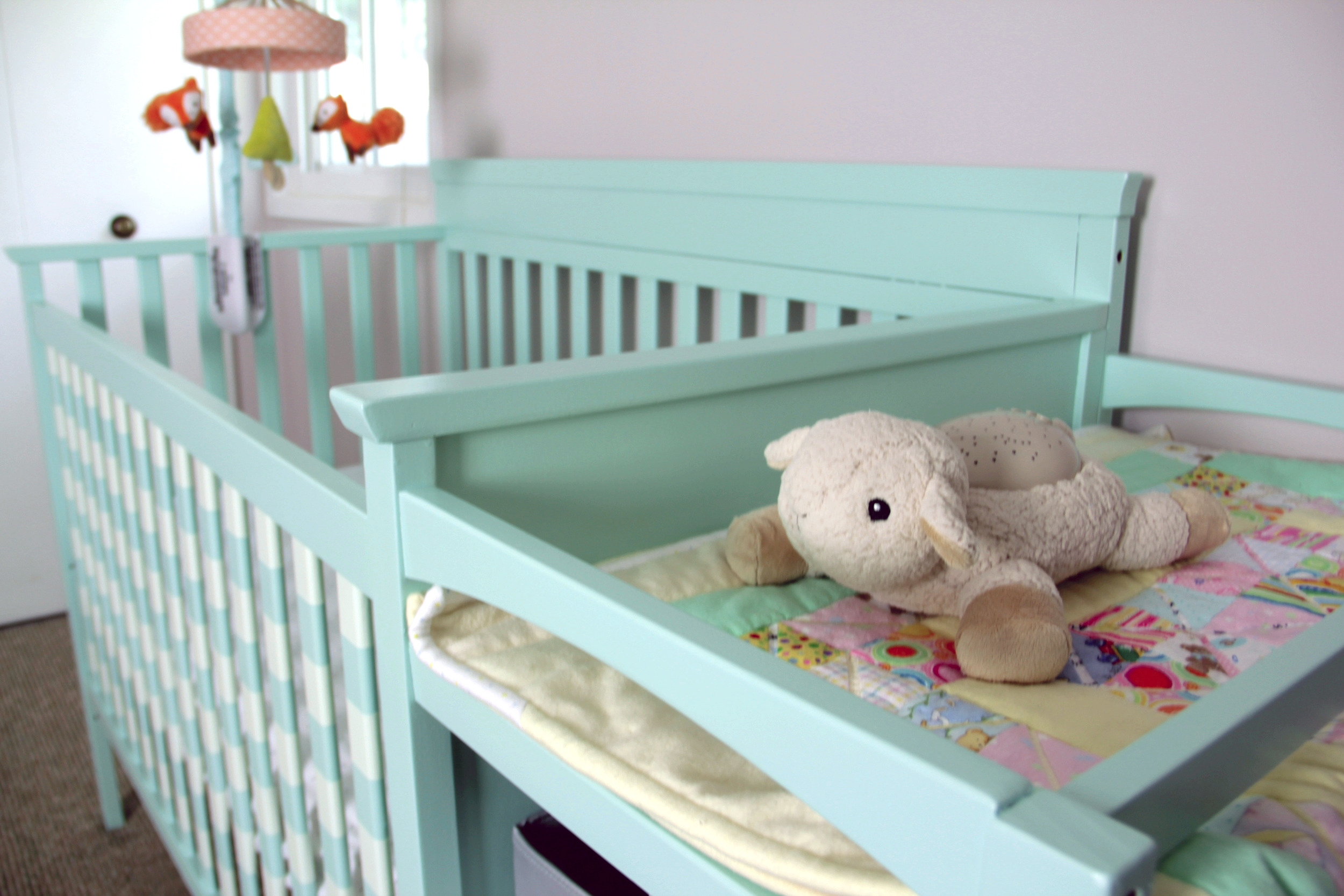 We love this sheepie! It makes stars on the ceiling.