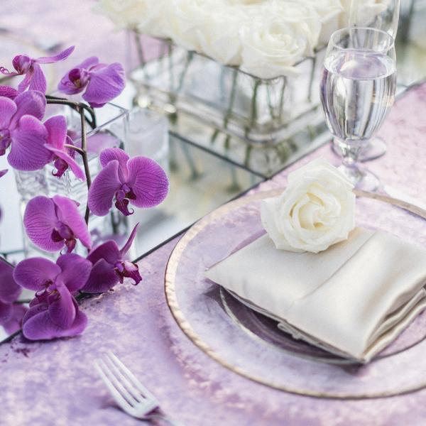 Purple Wedding Table Setup