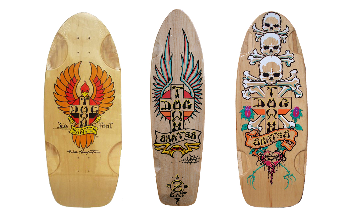 Dog Town skate decks designed by Wes Humpston