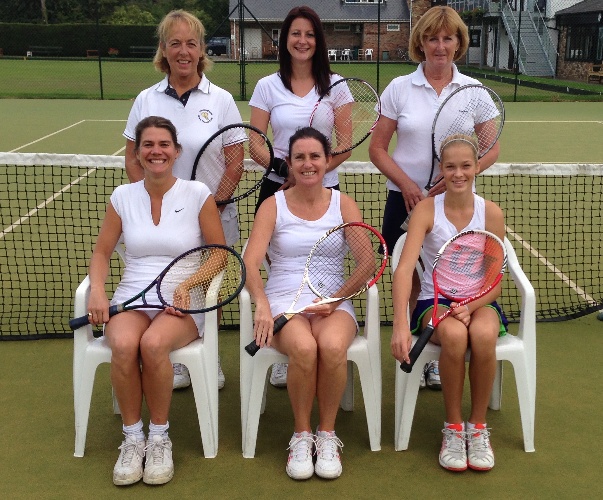Hemingford's Successful Ladies 'A'   Back L-R: Linda Dingle, Mary George, Bridget Flanagan. Front L-R Rebecca Pluke, Helen Kemp (Capt), Kira Reuter