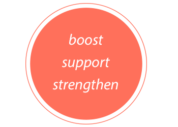 Bolster motto : Boost, Support, Strengthen