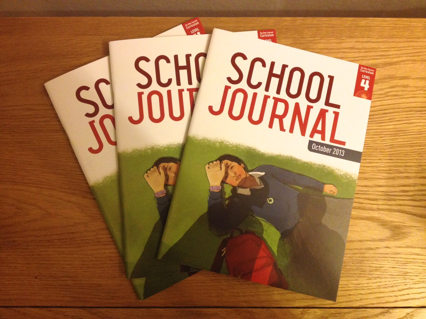 One of our last School Journals arrived from the printers. I can't wait for the next one to say it was designed by Bolster Design