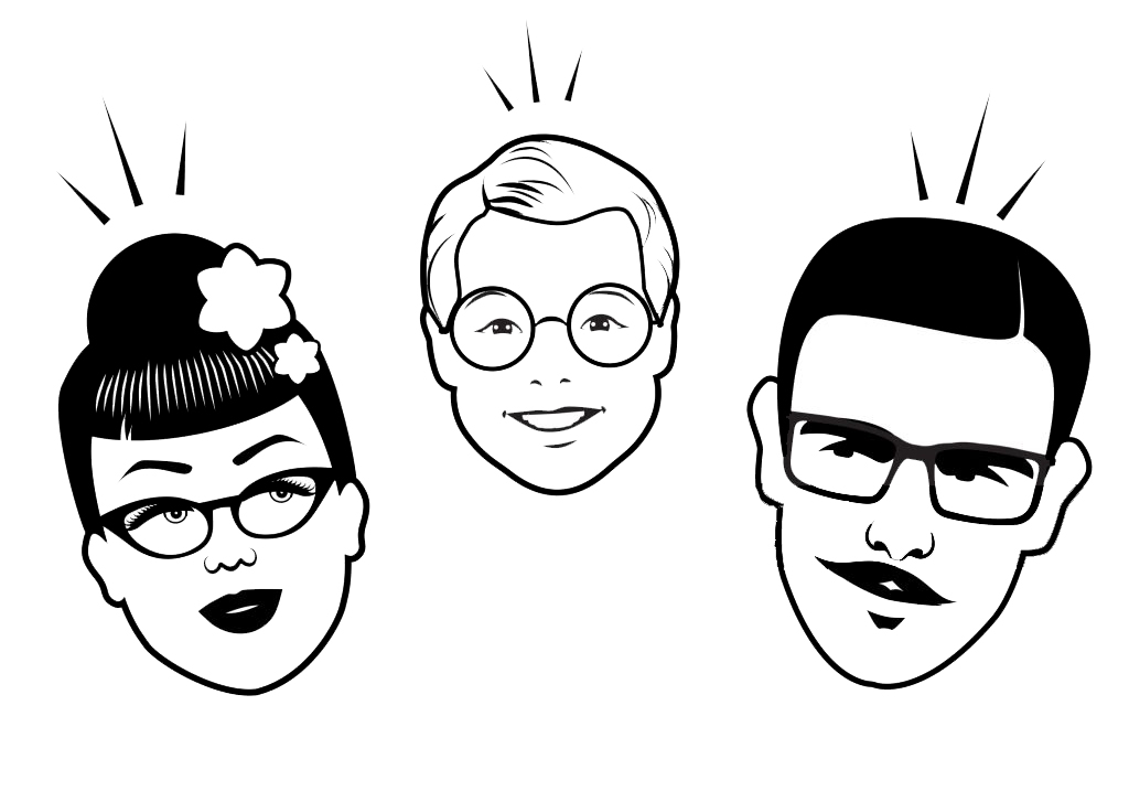 Avatar Retro Family. Cartoon faces retro style. Vector illustration.