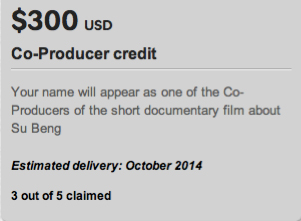 TWO more Co-Producer credits on the short documentary about Su Beng