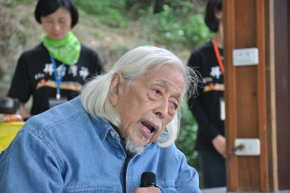 Su Beng speaking at the 228 memorial service at the Holy Mountain. Photo courtesy of: 廖建超
