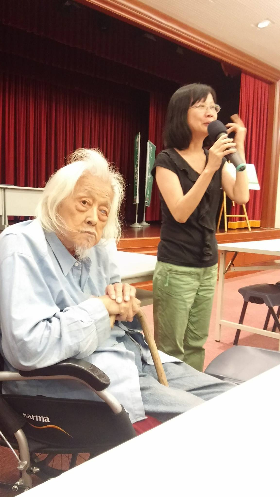 Su Beng with Lihkuei Chen, the director of the film Su Beng: The Revolutionist