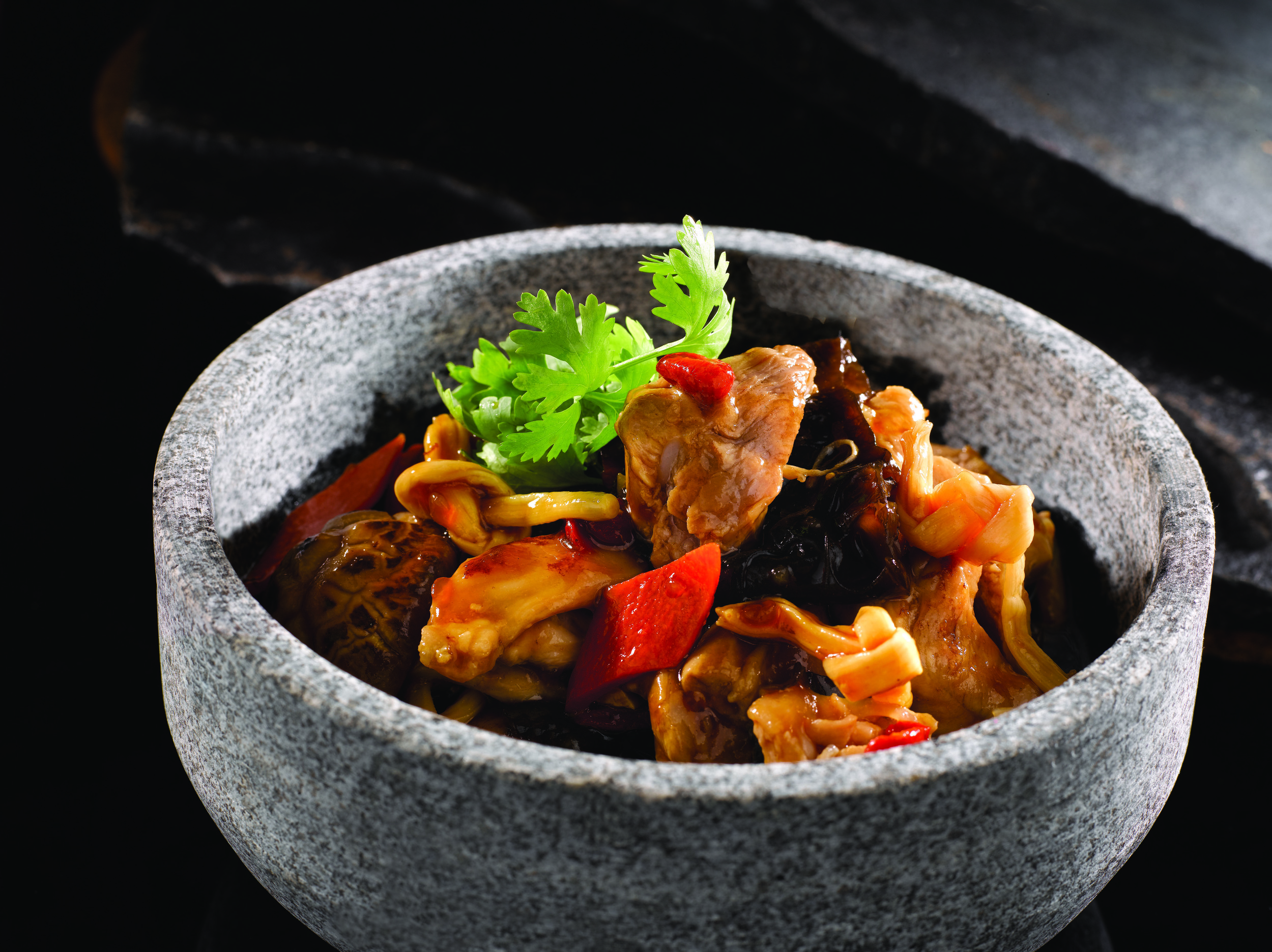 Braised hicken with Lily Buds and Flower Mushroom.jpg