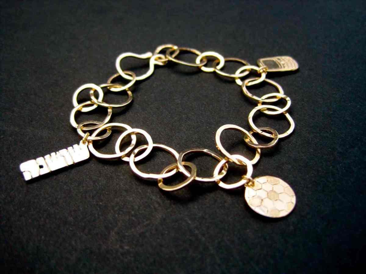 Custom Gold Charm Bracelet