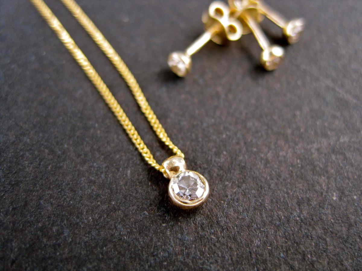 Heirloom Diamond Pendant and Studs