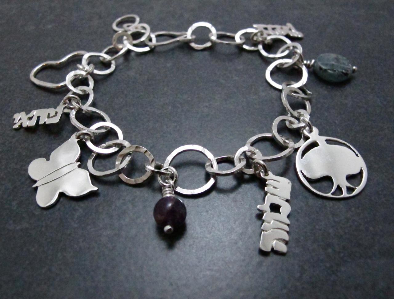 Custom Mother's Charm Bracelet