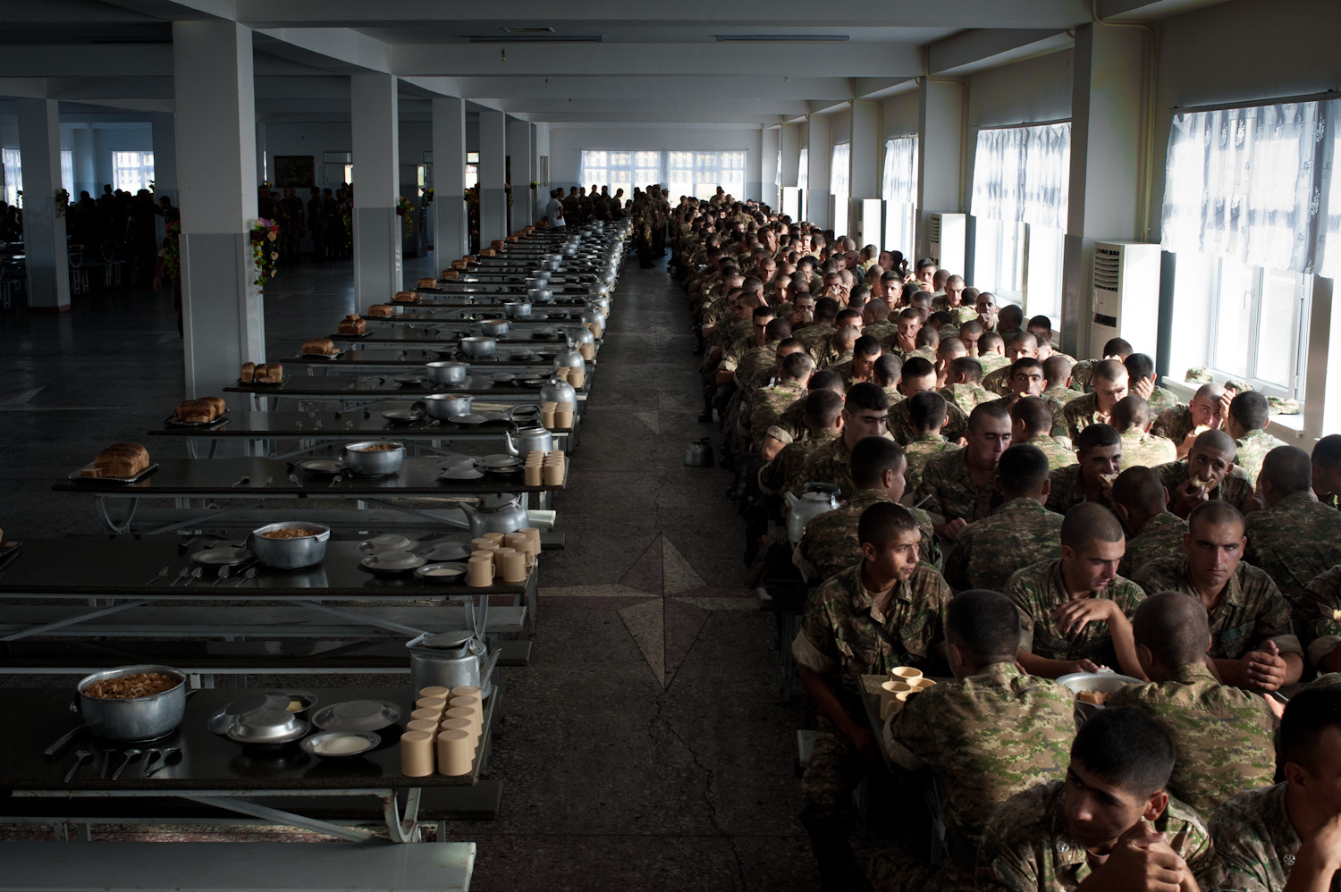 Lunchtime at the Jebrail military base in Southern Nagorno-Karabakh.