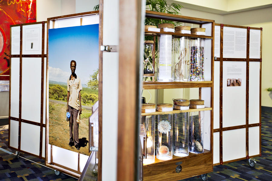 This work was shown in 2012 in Washington DC at the Smithsonian Folklife  Festival and at the International AIDS conference in collaboration with  South African curator Carol Brown, Professor David Gere, and the  University of California, Los Angeles (UCLA) Make Art/Stop AIDS global  initiative. To learn more click  HERE  and  HERE .
