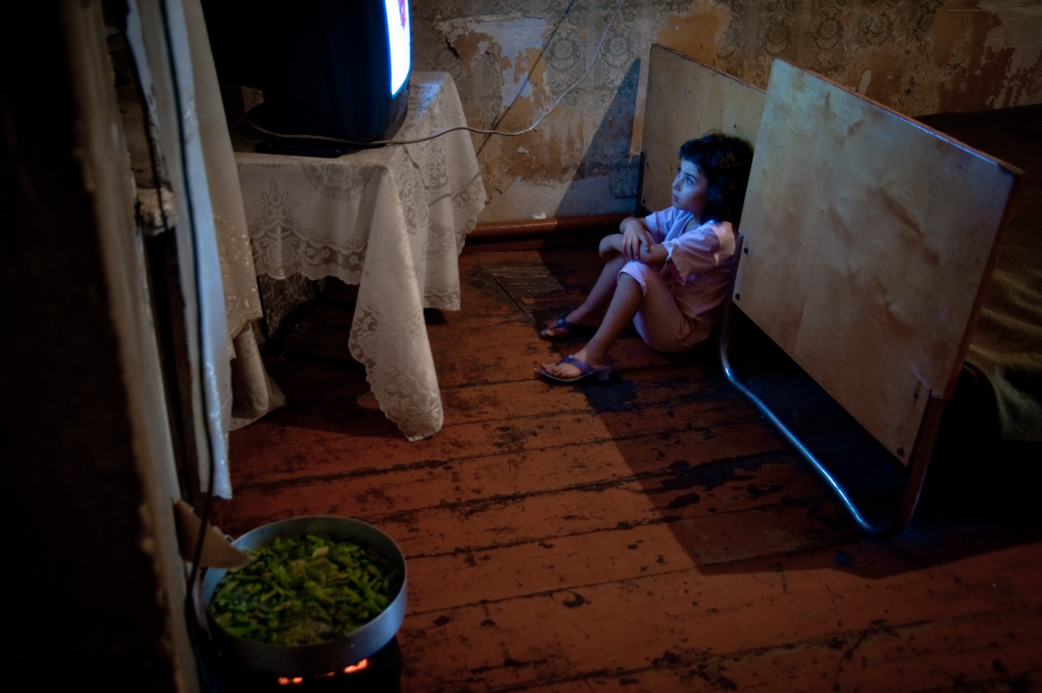 Christina lives with her single mom (who escaped an abusive husband) and 5 siblings in a dilapidated house in Yerevan. 6 months earlier before the family was rescued, they were living in a barn and were extremely malnurished.