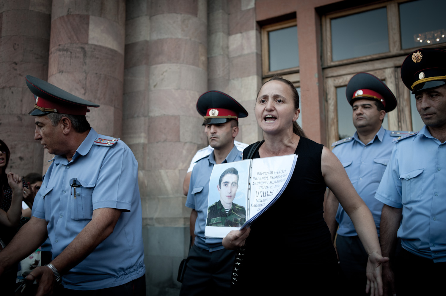 """No military personnel have been held responsible for Valery's death. Nana and her family continue to seek justice: """"If all the mothers whose sons have died like this join us, we would fill this entire square with mothers in black."""""""