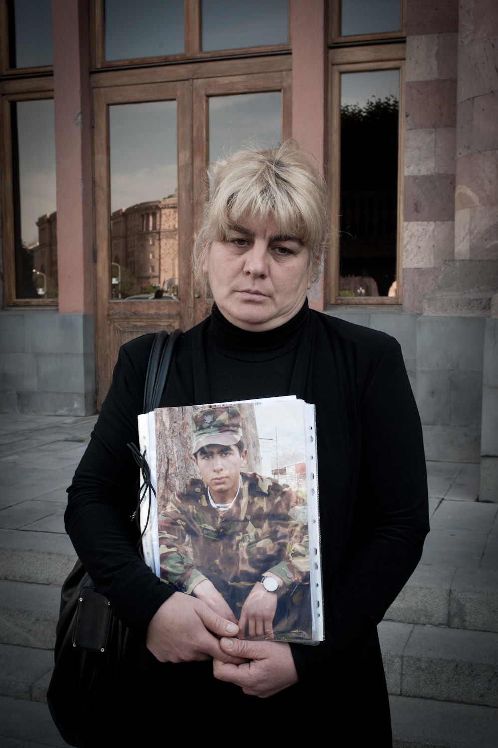 Irina Ghazaryan's son Arthur died in 2010 during his military service. The military contends that the nineteen year old died of a brain tumor. The Ghazaryans believe their son was killed.
