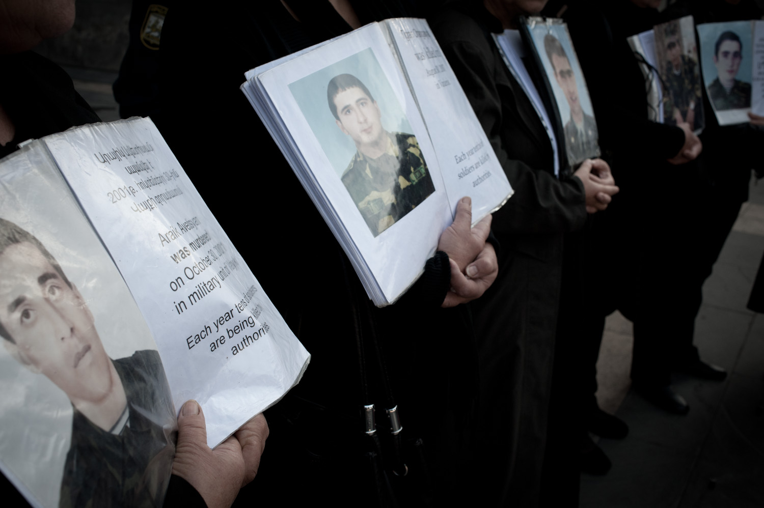 To learn more or to get involved with the issue of non-combat deaths in Armenia, please connect with the following people/organizations: Lala Aslikyan, Tsovinar Nazaryan -  Army in Reality Civic Initiative    Zhanna Alexanyan -  Journalists for Human Rights    Sona Ayvazyan -  Transperancy International
