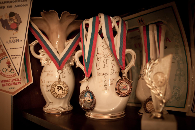 Tigran's judo medals.