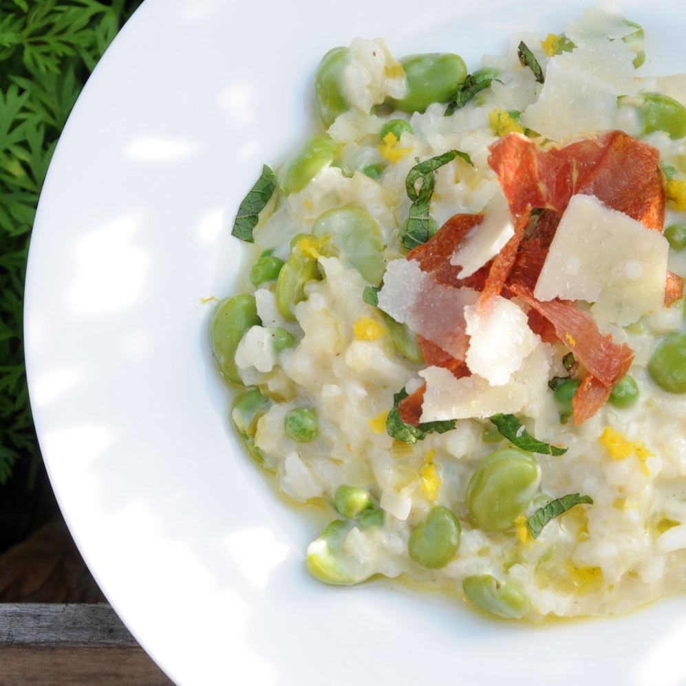 Summer Risotto of Pea & Broad Bean