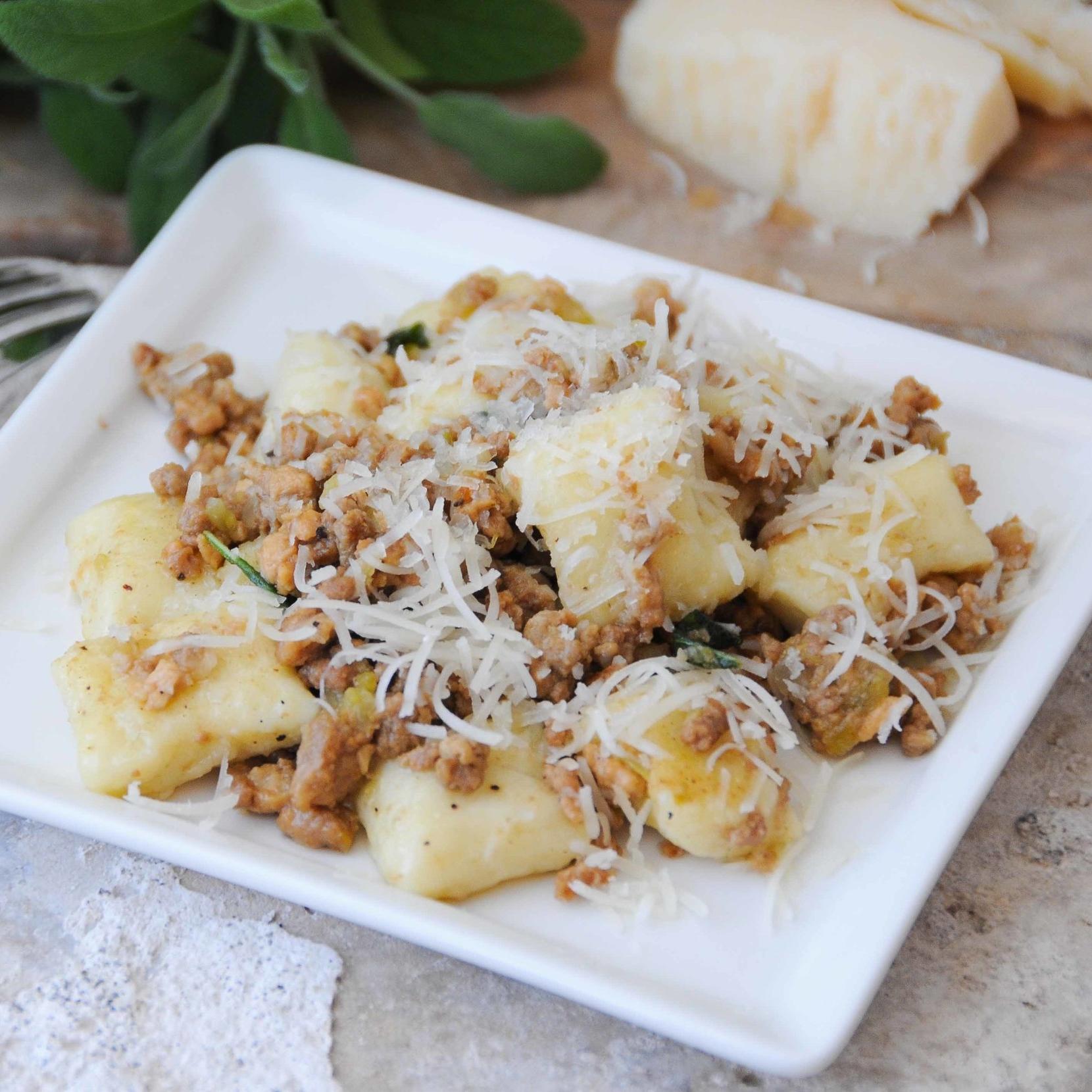 Homemade Gnocchi with Ragu Bianco