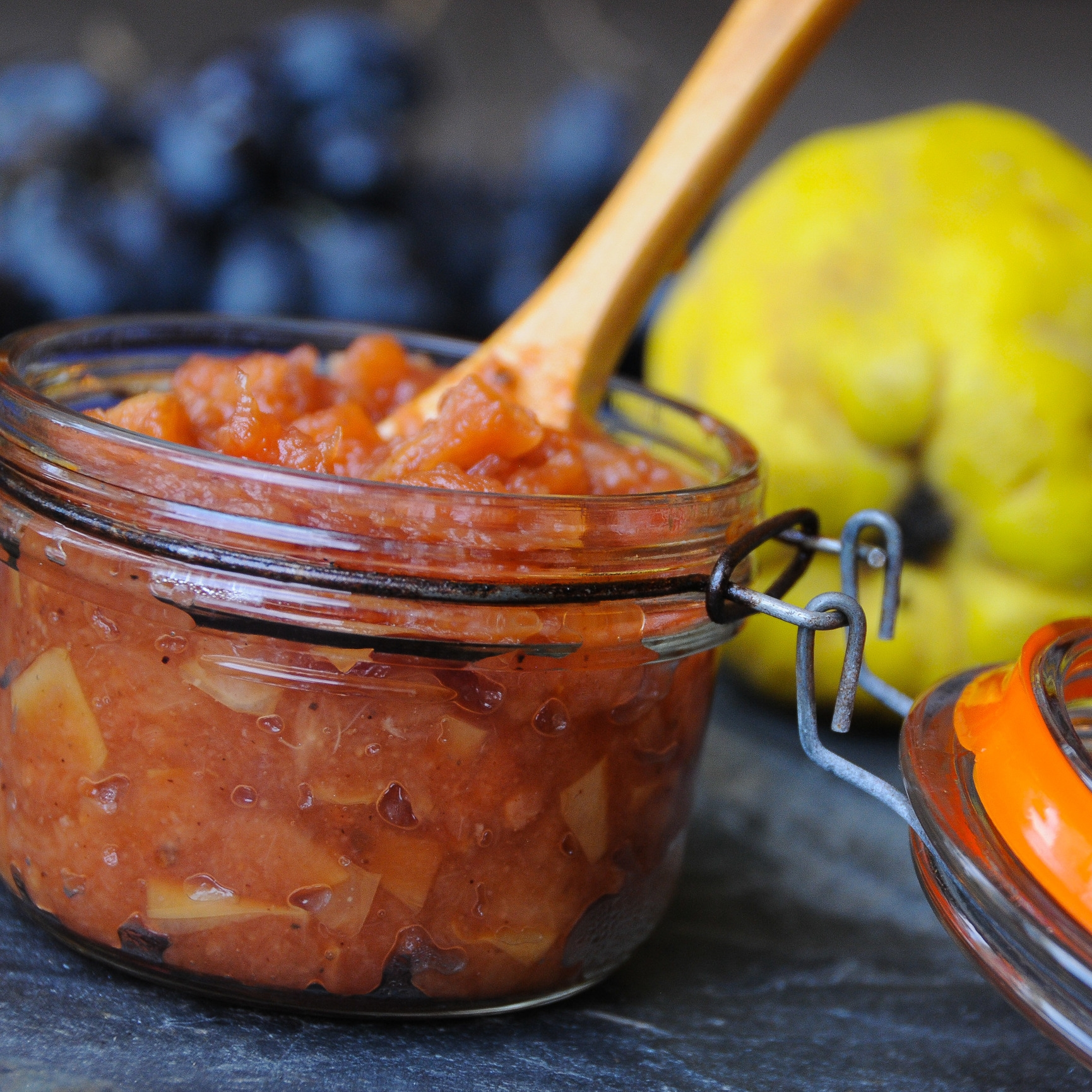 Spiced Quince & Candied Ginger Chutney