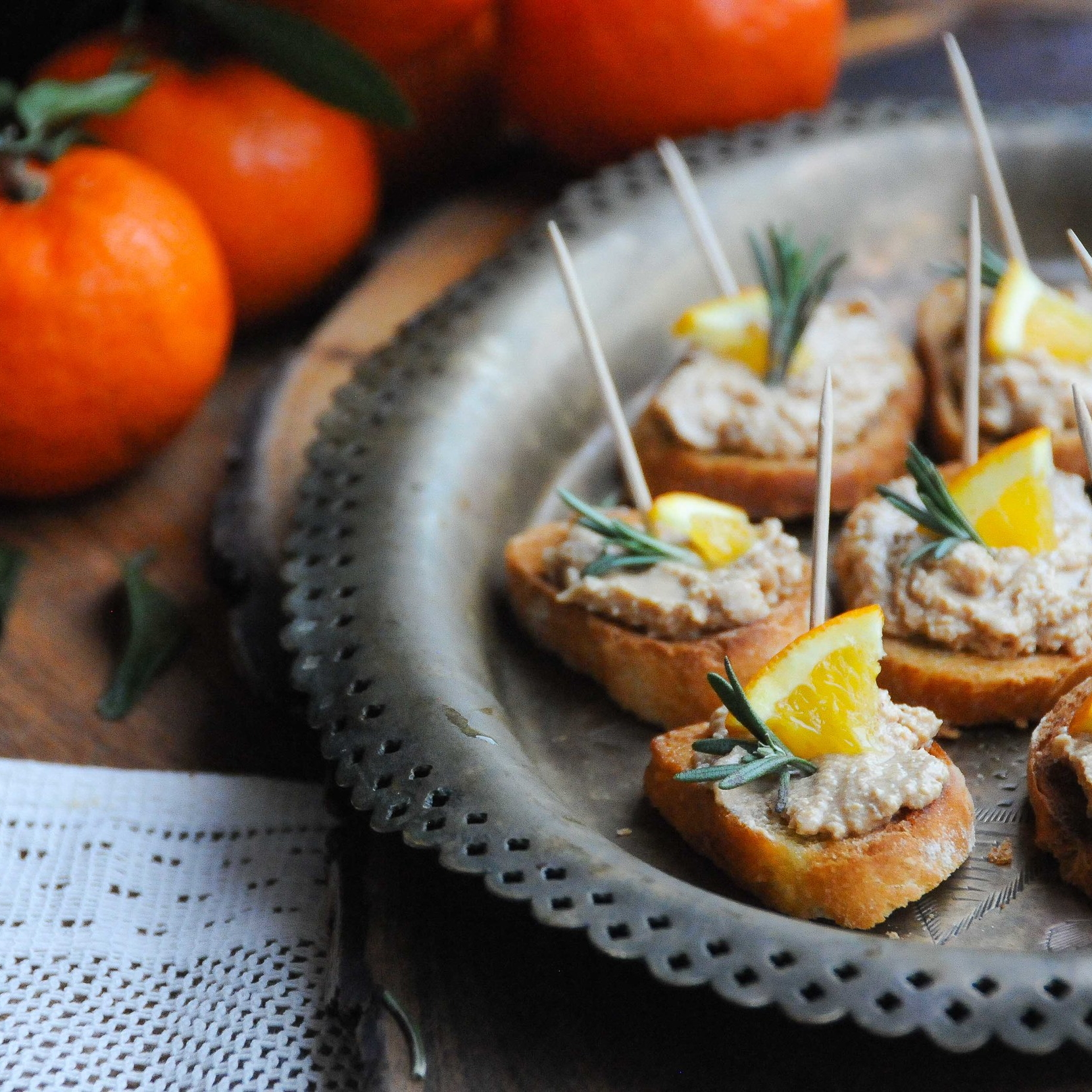Chicken Liver & Orange Parfait Crostini