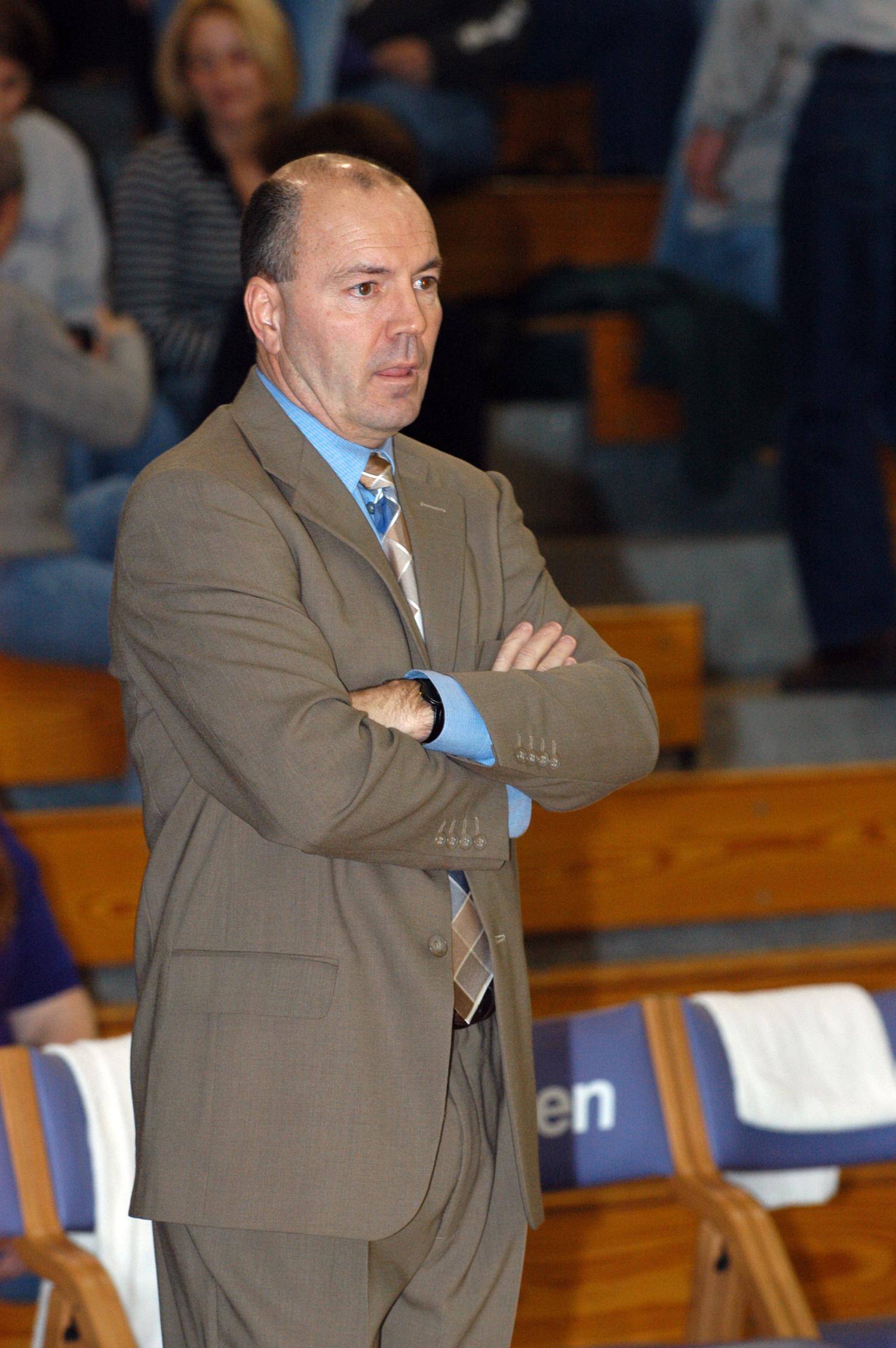 Coach Daugherty during his tenure at Goshen College