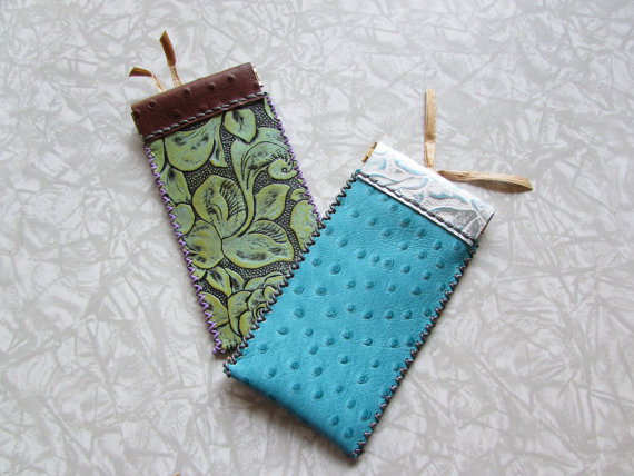 Leather Eyeglass Cases* * * * * - Very pretty, well made -- I'm very pleased!!- Kay Kim (Etsy customer)