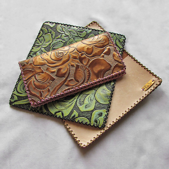 Leather Checkbook Covers* * * * * - I love my checkbook cover! The color I wanted was not available so I picked acorn brown. It is exactly what I wanted and expected! Thank you Jamie at FadoCreations.- Judy Siegel (Etsy customer)