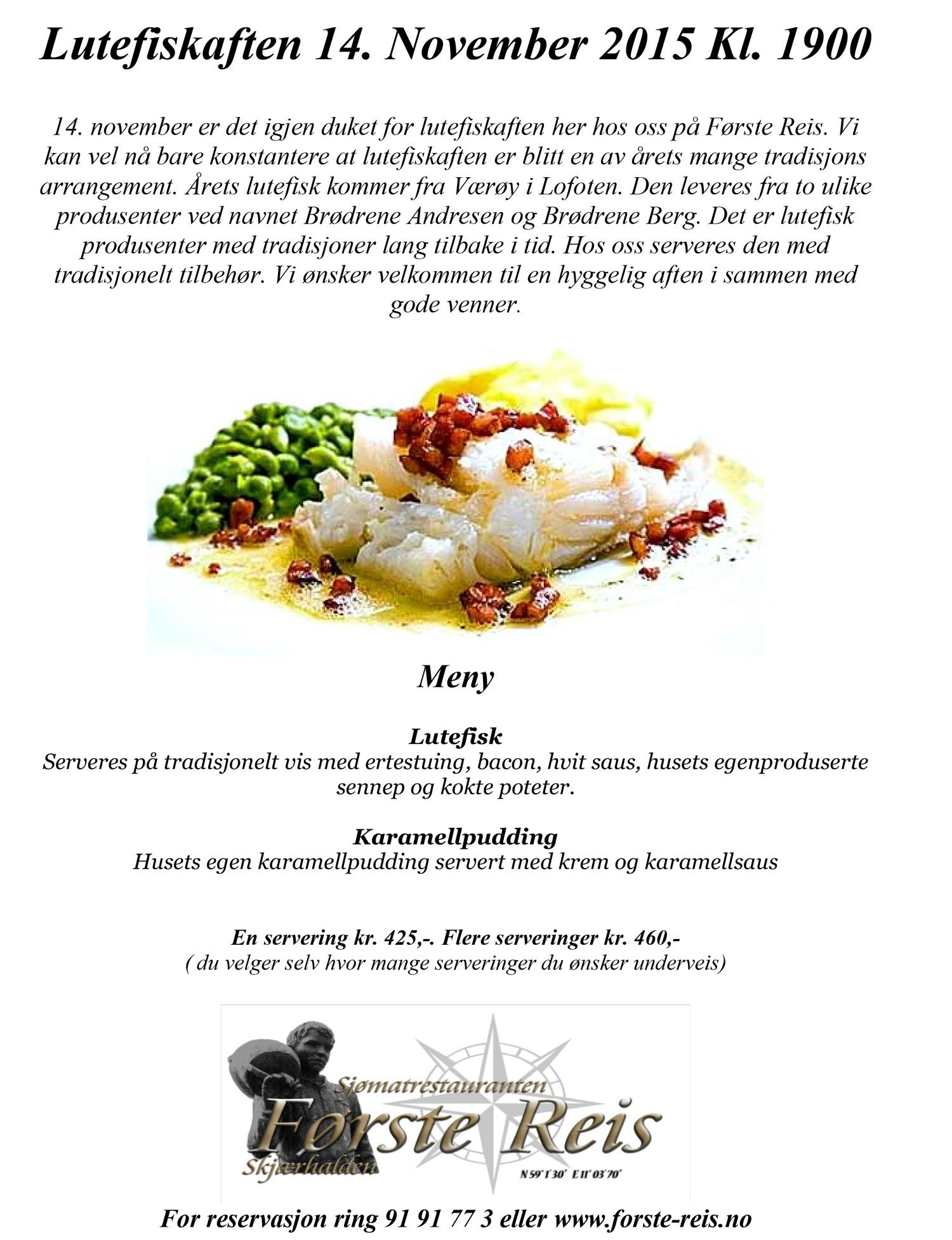 Sjømatrestauranten første reis
