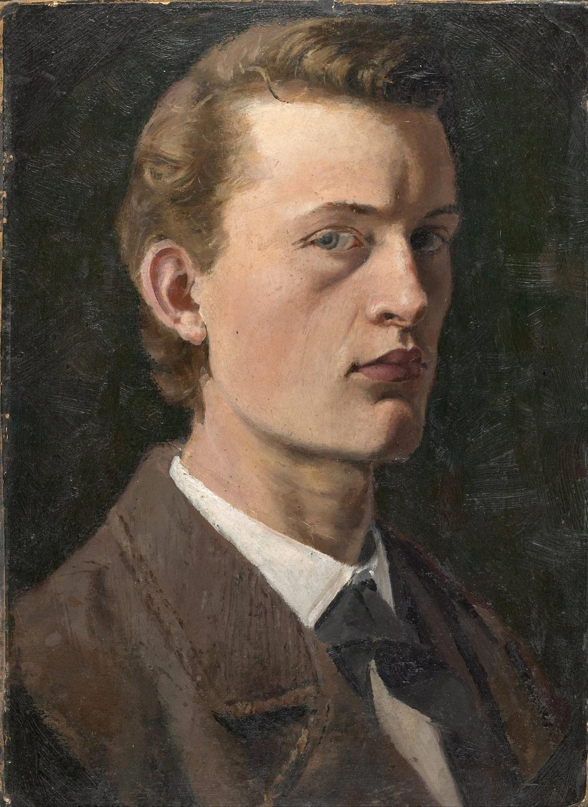 Edvard Munch. Selvportrett 1881 - 1882.