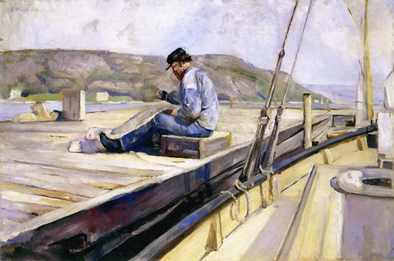 Notbinderen. 1888. Malt fra Hankø.
