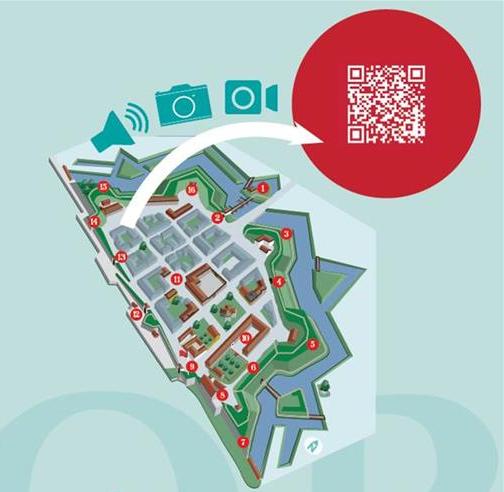 Den digitale festningsløypa i Gamlebyen Fredrikstad QR-kode